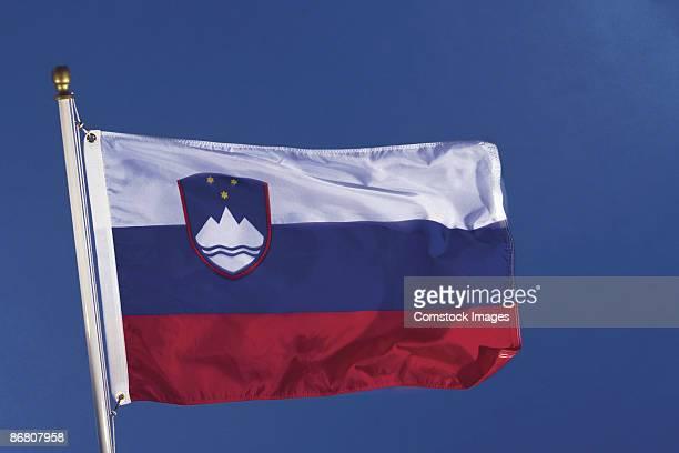slovenian flag - スロベニア国旗 ストックフォトと画像