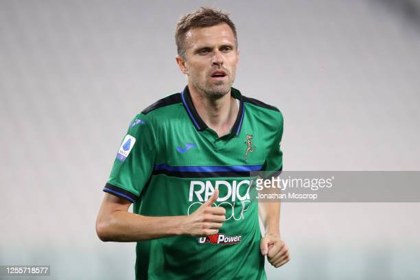 Slovenian midfielder Josip Ilicic of Atalanta during the Serie A match between Juventus and Atalanta BC at Allianz Stadium on July 11, 2020 in Turin,...