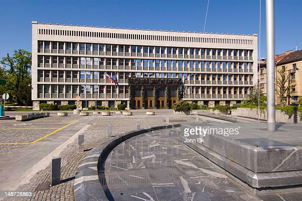 slovenian parliament building. - slovenia stock pictures, royalty-free photos & images