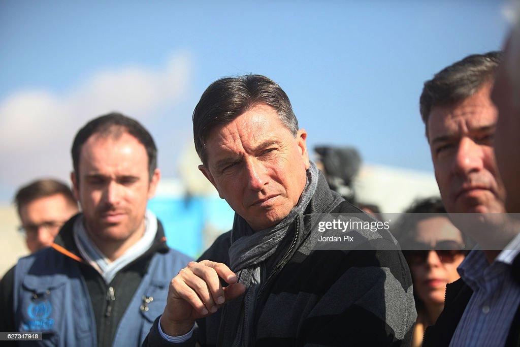 Slovenian President Visits The Zaatari refugee camp