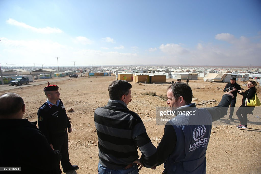Slovenian President Visits The Zaatari refugee camp