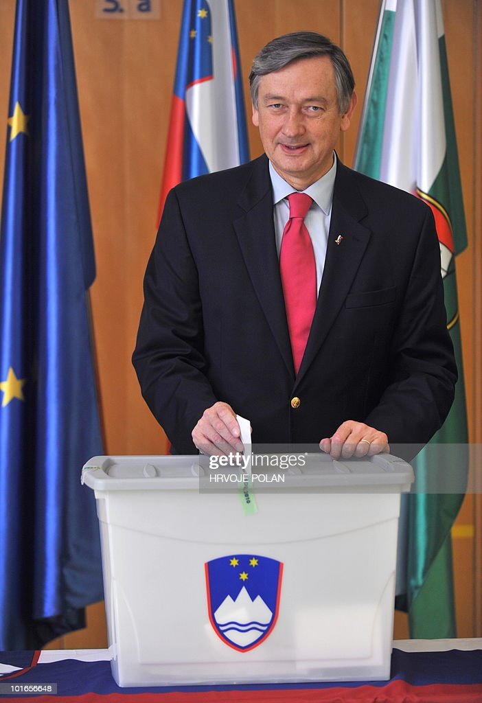 Slovenian President Danilo Turk, casts his ballot at the polling station in Ljubljana, on June 6, 2010 during a referendum on a deal with Croatia to allow an arbitration panel to settle a long-running border dispute between the two neighbouring countries. Slovenia - which was the first former Yugoslav state to join the European Union in 2004 - has long vetoed Croatia's bid to become the bloc's 28th member, fearing that Zagreb's membership application would tacitly recognise Croatia's definition of its borders. In terms of Slovenian law, if voters reject the deal at the referendum, parliament will have to wait for 12 months before being able to reconsider it.