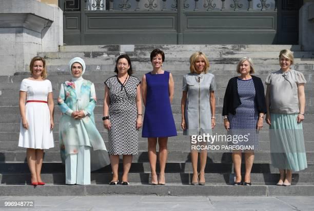 Slovenian Prime Minister's wife Mojca Stropnik Turkish President's wife Emine Erdogan NATO Secretary General's wife Ingrid Schulerud Belgian Prime...
