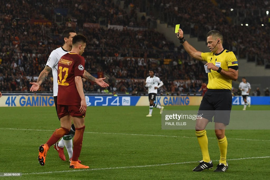FBL-EUR-C1-AS ROMA-LIVERPOOL : News Photo