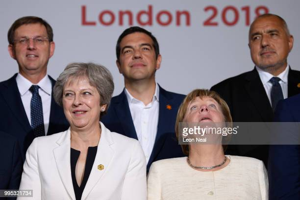 Slovenia's Prime Minister Miro Cerar Britain's Prime Minister Theresa May Greece's Prime Minister Alexis Tsipras Germany's Chancellor Angela Merkel...