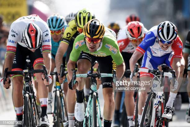 Slovenia's Primoz Roglic wins the 1st stage4 km from Neuchatel to La ChauxdeFonds of the Tour de Romandie UCI World Tour 2019 cycling race on May 1...
