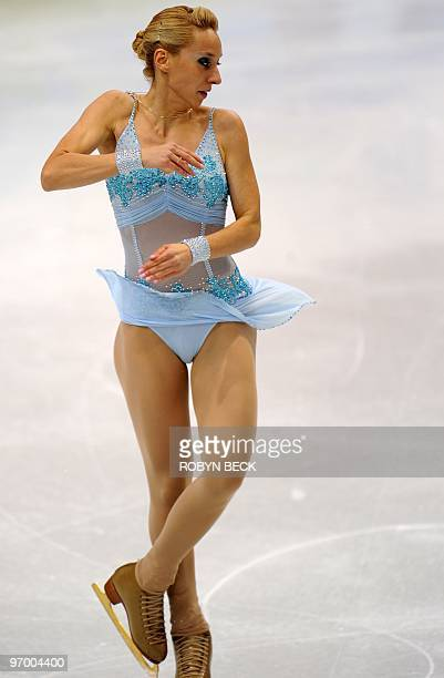Slovenia's Teodora Postic competes in the 2010 Winter Olympics women's figure skating short program at the Pacific Coliseum in Vancouver on February...