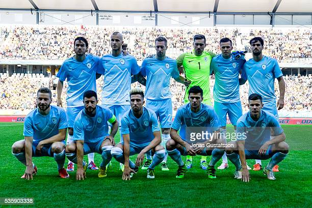 Slovenien line up during the international friendly match between Sweden and Slovenia May 30 2016 in Malmo Sweden