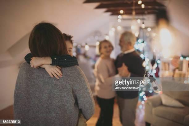Danse lente le soir de Noël