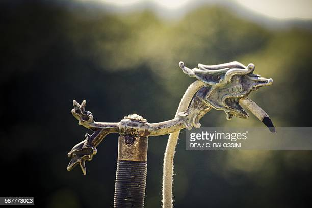 Slow match a pole at the end of which the fuse to ignite the gunpowder was secured artillery of the Imperial Austrian army Napoleonic wars 19th...