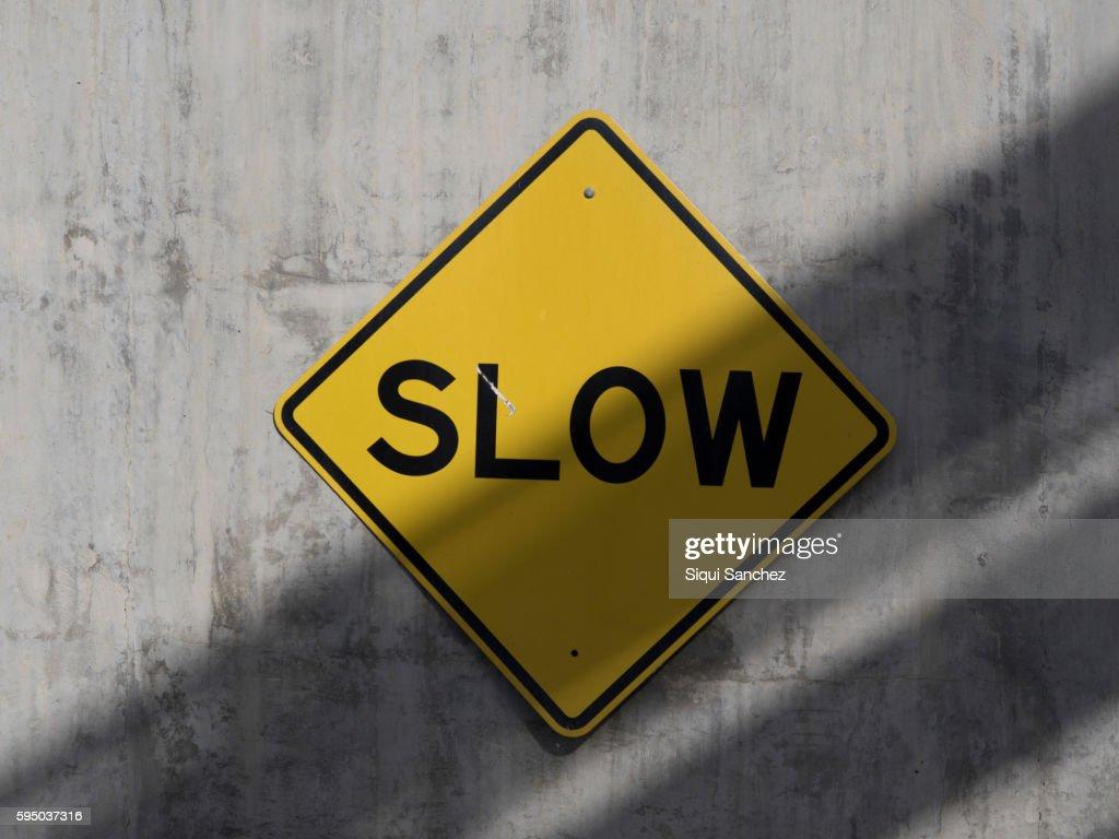 Slow sign : Stock Photo