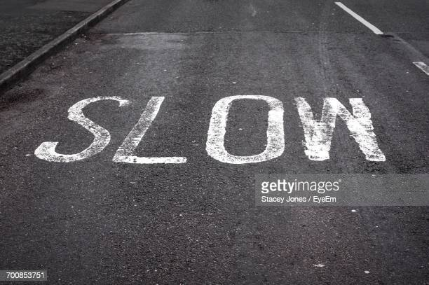 Slow Text On Road