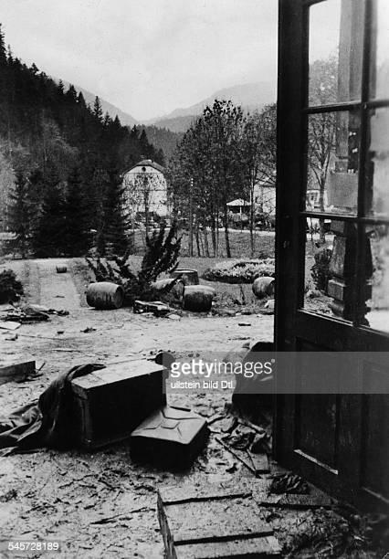 Slowakischer Aufstand Zerstörtes Material der Aufständischennach Beendigung der KämpfeOktober 1944