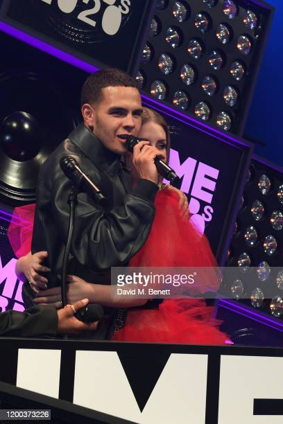 Slowthai and Katherine Ryan attend The NME Awards 2020 at the O2 Academy Brixton on February 12 2020 in London England