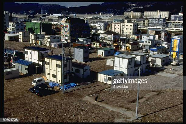 Slowtorebuild Nagata ward area fireravaged in Jan 1995 earthquake w many of its 2000 shoe factories unable to reopen because of zoning laws
