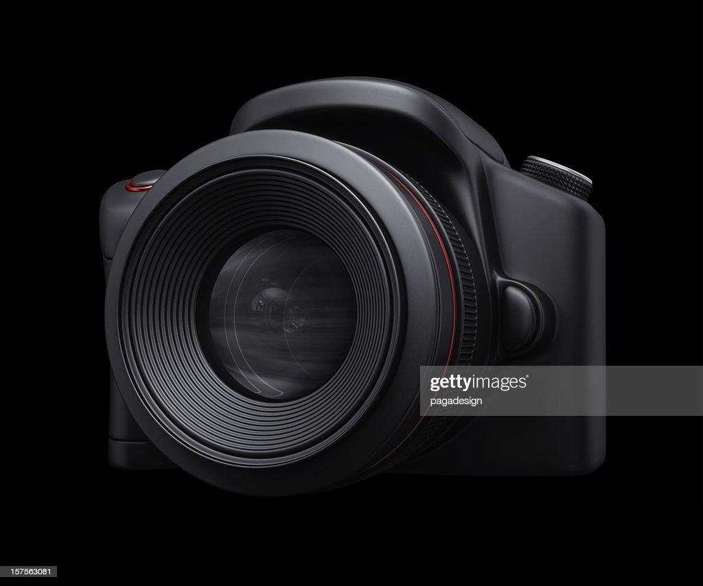 Spiegelreflexkamera in shadow : Stock-Foto