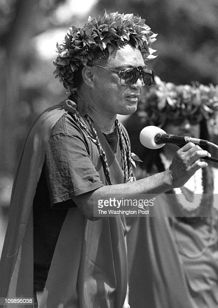 8/8/98 slug ME/ ALOHA photog CRAIG HERNDON reporter location Along Pennsylvania Ave NW caption The Aloha March demonstration marking the 100th...