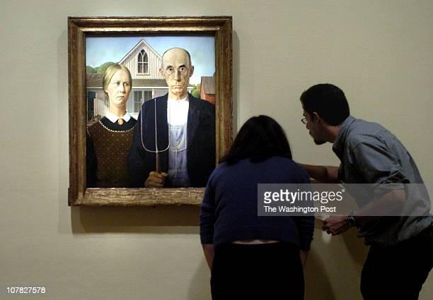 PH/gothic date 3/06/06 photographer Katherine Frey/The Washington Post neg# freyk 178017 Renwick Gallery Washington DC The painting 'American Gothic'...