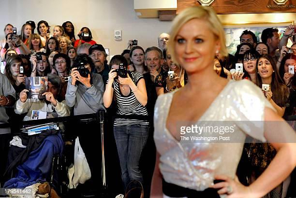 St/dinner ref: raimondo207733 date: 05/09/09 location: washington, d.c. Photographer: lois raimondo caption: Amy Poehler poses for the press while...