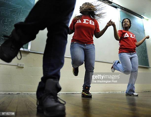dcsteppers DATEOctober 18 2009 CREDIT Mark Gail/TWP Washington DC ASSIGNMENT#210244 EDITED BYmg Howard University's Delta Sigma Theta Sorority step...