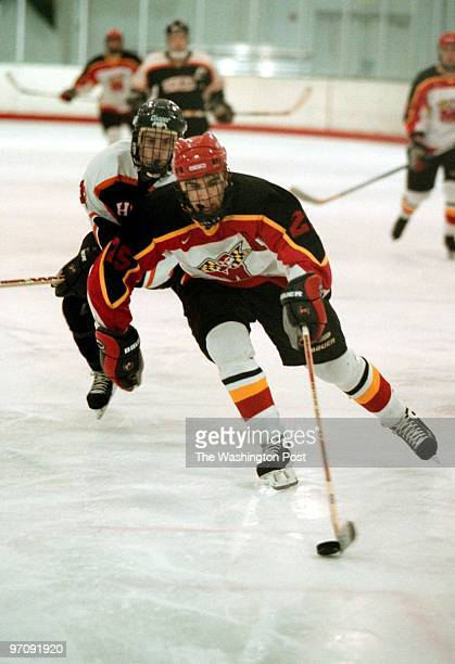 Laurel Ice House--PHOTOGRAPHER-MARVIN JOSEPH/TWP--CAPTION-Terps Hockey team versus Virginia Tech. PICTURED, Jory Rand a senior at Howaqrd High...