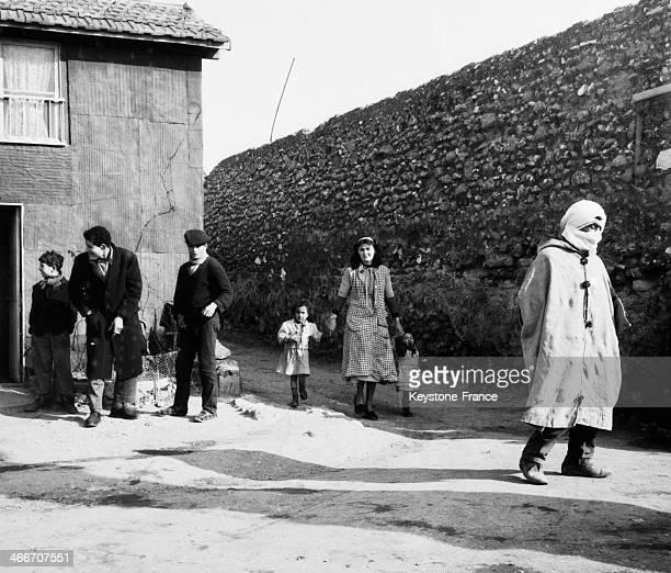 Slum and its inhabitants Marseille Bouches du Rhone France in 1956