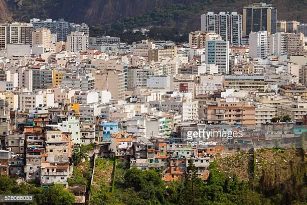 Slum and middle class neighborhood