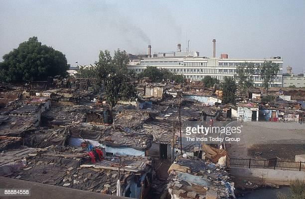 Slum at Indraprastha Estate New Delhi