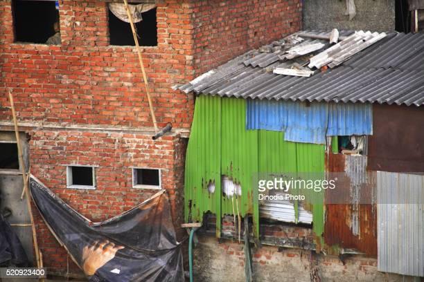 Slum, Behram Naupada, Anant Kanekar Marg, Bandra, Bombay, Mumbai, Maharashtra, India
