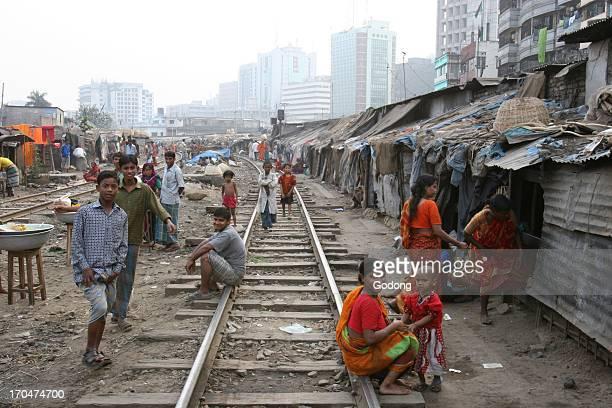Slum dwellers Dhaka Bangladesh
