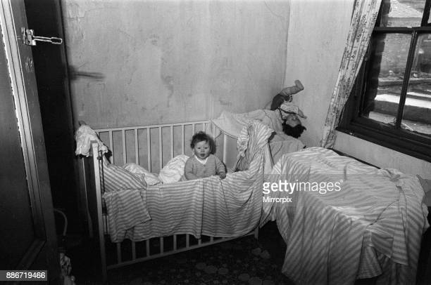 Slum housing in Salford Greater Manchester 30th January 1970