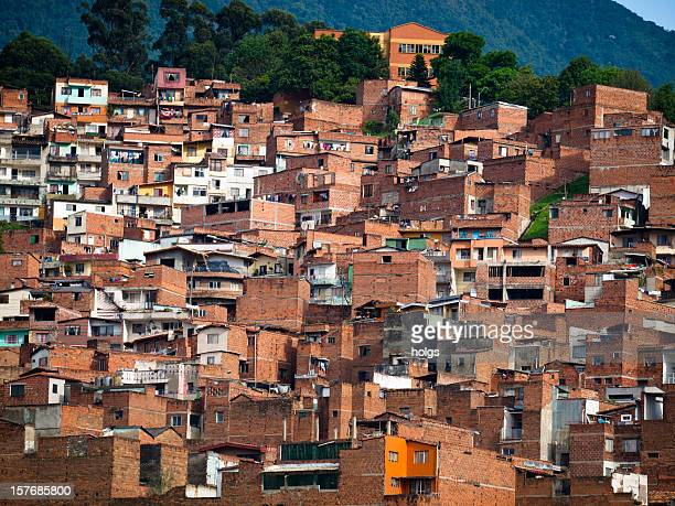 Barriada en Medellín, Colombia