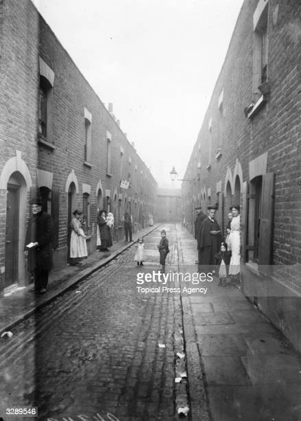 A slum street in London's East End