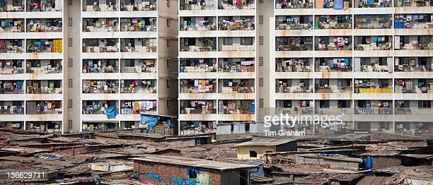 Slums and Tenement Housing, Mumbai, Bombay, India