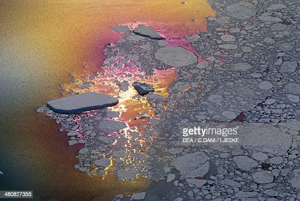 Slush or sludge stage in sea ice formation Antarctica