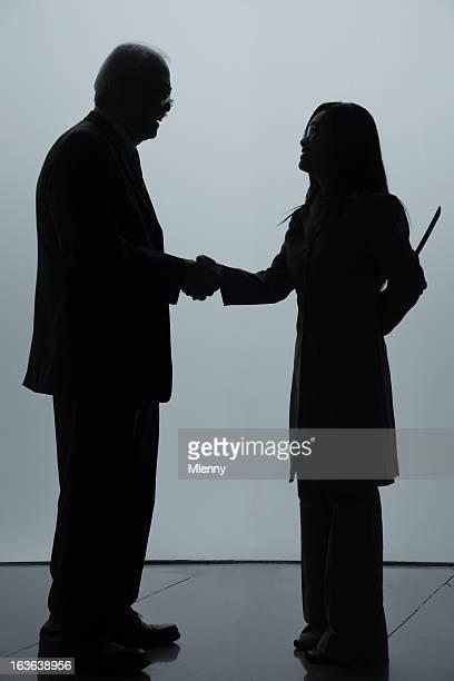 Sly Business Handshake