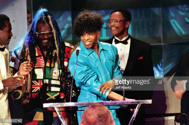 Sly Stone at The 1993 Rock And Roll Hall of Fame at The Century Plaza on January 12th, 1993 in Los Angeles, CA.