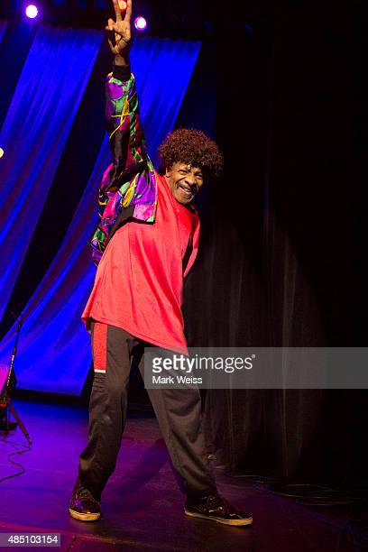 Sly Stone makes a rare appearance with The Family Stone during Hippiefest 2015 at Count Basie Theater on August 23 2015 in Red Bank New Jersey