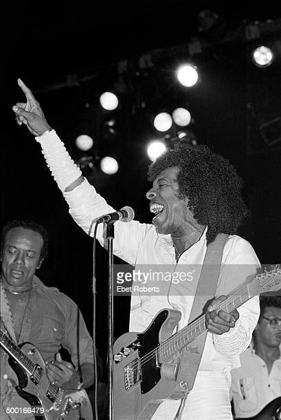 Sly Stone performing with Bobby Womack at the Beacon Theater in New York City on June 23 1984