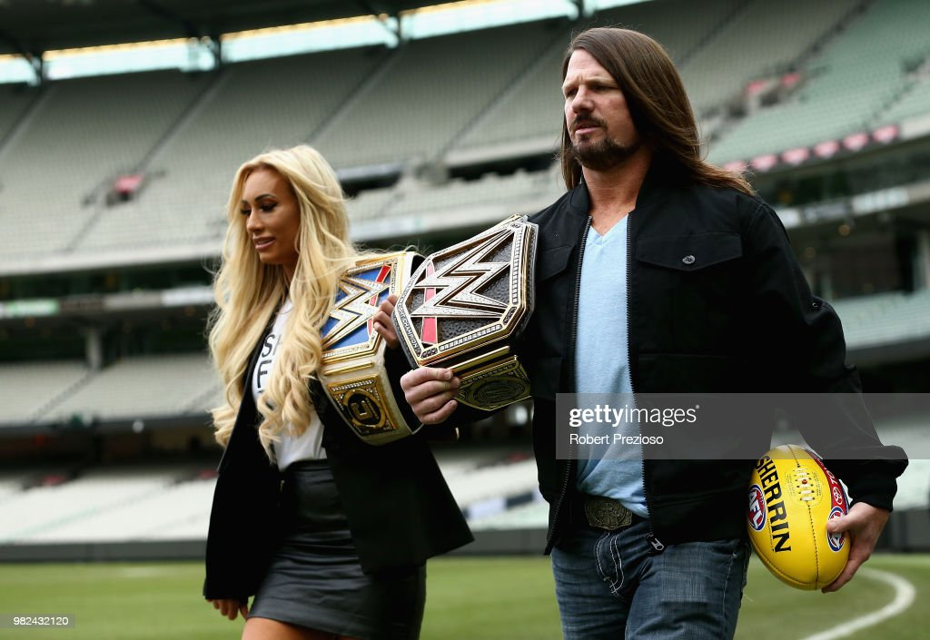 WWE Super Show-Down Media Opportunity : News Photo