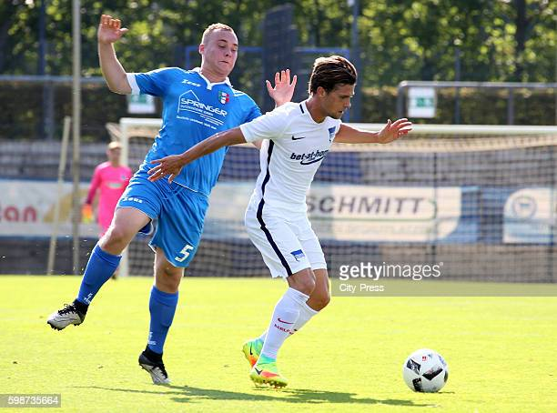 Smajo Jakupovic of Club Italia 80 and Valentin Stocker of Hertha BSC during the test match between Hertha BSC and Club Italia 80 on September 2 2016...