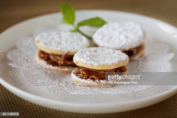 ROCKVILLE MD Small Alfajores a typical Peruvian cookie with anise and milk caramel are presented with the bill at the new second location of La...