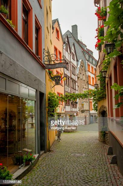 Small alley in the town of Bernkastel on the Mosel River in the Cochem-Zell district in Rhineland-Palatinate, Germany.