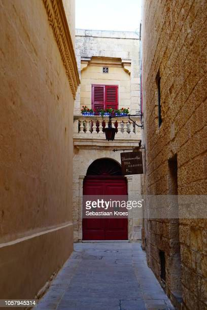Small alley with red door, Mdina, Malta