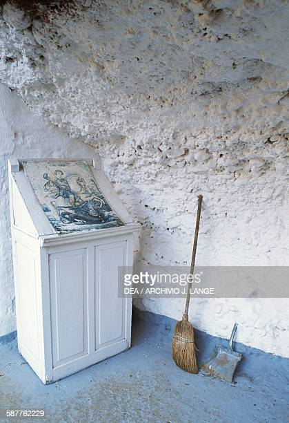 A small altar in front of the cave Church of Agios Georgios in Didyma Argolis Greece