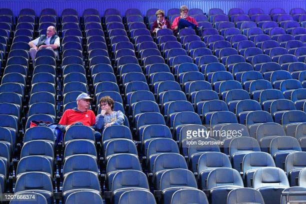 Small amount of fans during the first round game of the men's Pac-12 Tournament between the Stanford Cardinal and the California Bears on March 11 at...