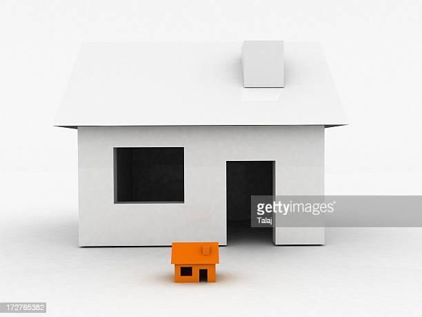 Small and big house