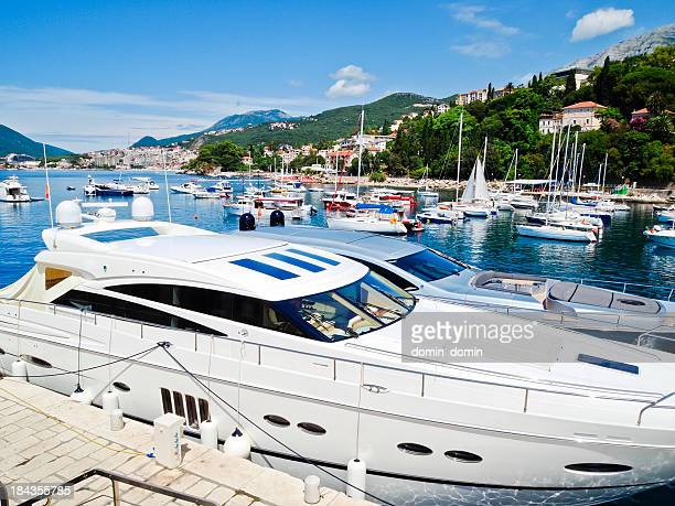 Small and medium yachts, bay and marina, Herceg Novi, Montenegro