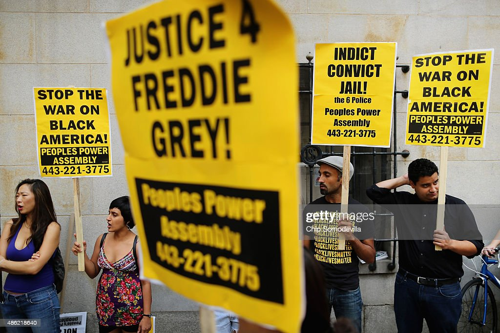 Baltimore Tense As Pre-Trial Motions Begin In Freddie Gray Death Case : News Photo