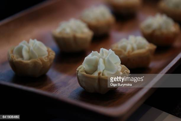small appetizers - la belle équipe restaurant stock pictures, royalty-free photos & images